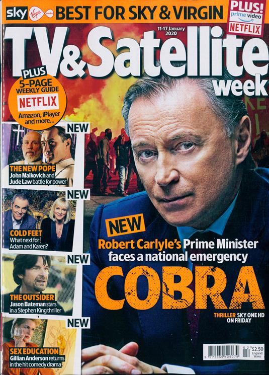 TV & SATELLITE Magazine 11 Jan 2020 Robert Carlyle Rufus Sewell James Norton