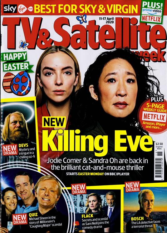 TV & Satellite Magazine 11 April 2020: JODIE COMER Matthew MacFadyen Domhnall Gleeson