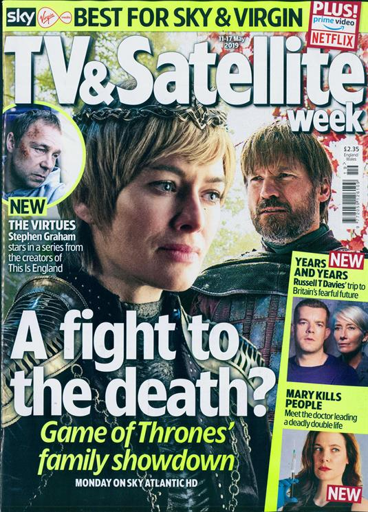 TV & SATELLITE Magazine May 2019: Lena Headey Nikolaj Coster-Waldau Game Of Thrones