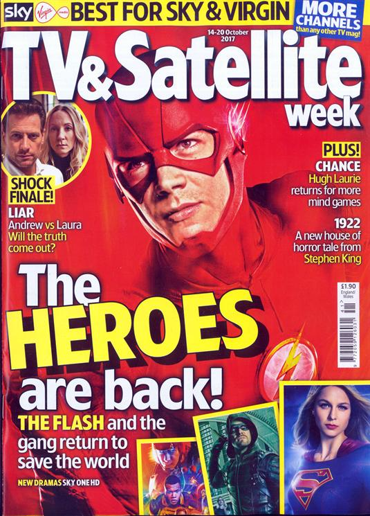 TV And Satellite Magazine 14 October 2017 The Flash Stephen King Anna Paquin Ioan Gruffudd