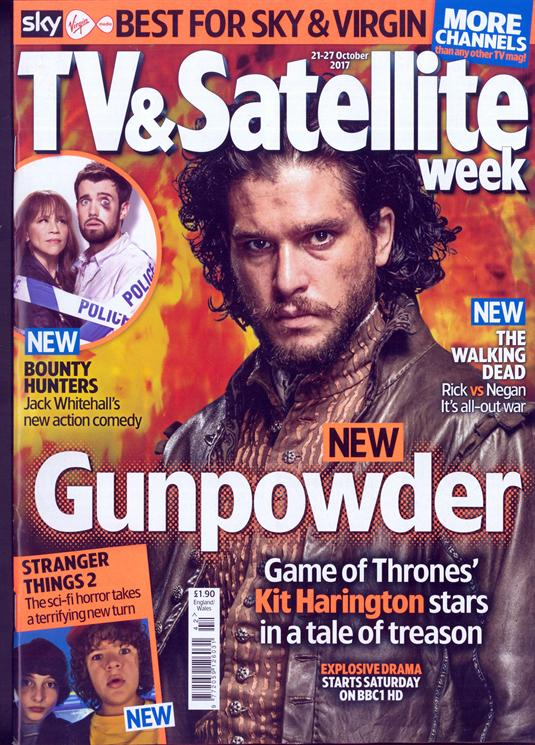 Kit Harington on the cover of TV & Satellite Magazine