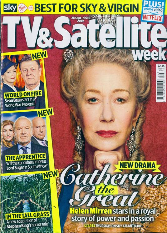 TV & Satellite Magazine 28 Sept 2019: HELEN MIRREN COVER FEATURE Sean Bean