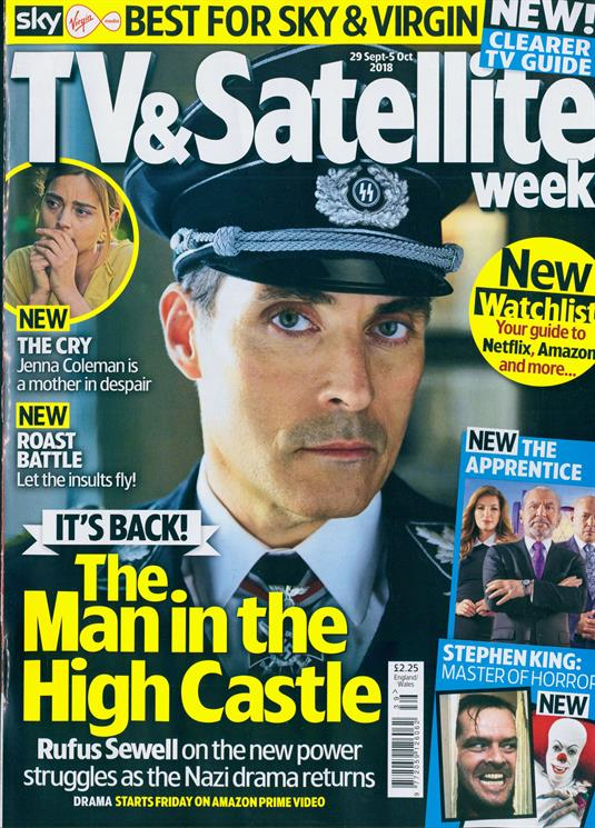 TV & Satellite magazine 29 Sept 2018 Rufus Sewell Ryan Hawley Stephen King