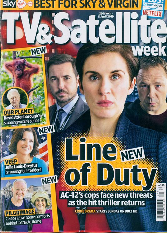 TV & Satellite Magazine March 2019: Robert Carlyle BILL HADER Howard Donald Line of Duty