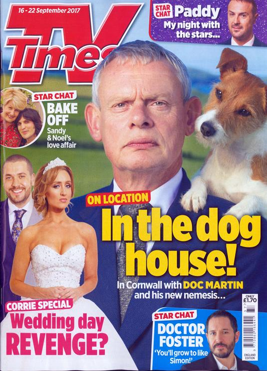 TV Times Magazine September 16 2017 Martin Clunes Doc Martin Bertie Carvel