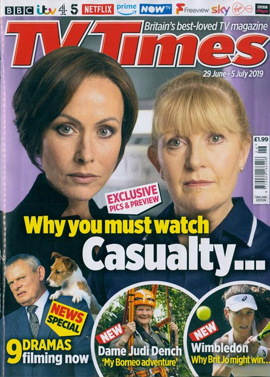 UK TV Times Magazine 29 June 2019: Judi Dench Interview
