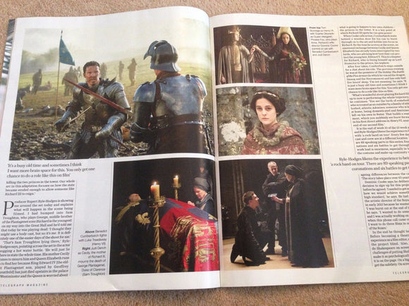 The Hollow Crown BENEDICT CUMBERBATCH UK TELEGRAPH MAGAZINE April 2016