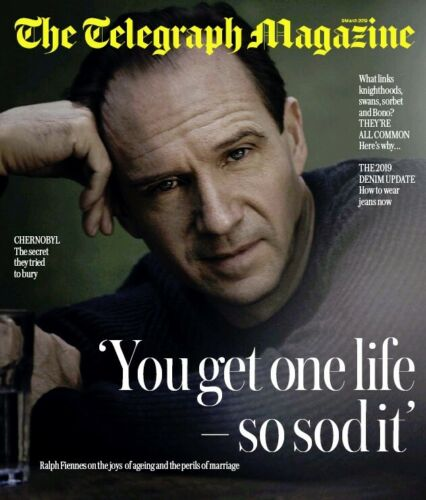 UK Telegraph Magazine MAR 2019 RALPH FIENNES COVER AND FEATURE