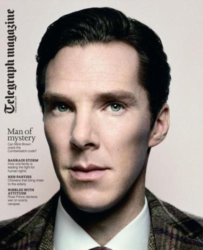 BENEDICT CUMBERBATCH ON THE COVER OF TELEGRAPH MAGAZINE
