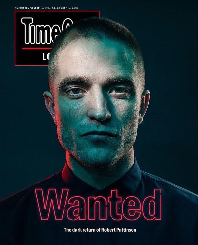 Robert Pattinson on the cover of Time Out London Magazine