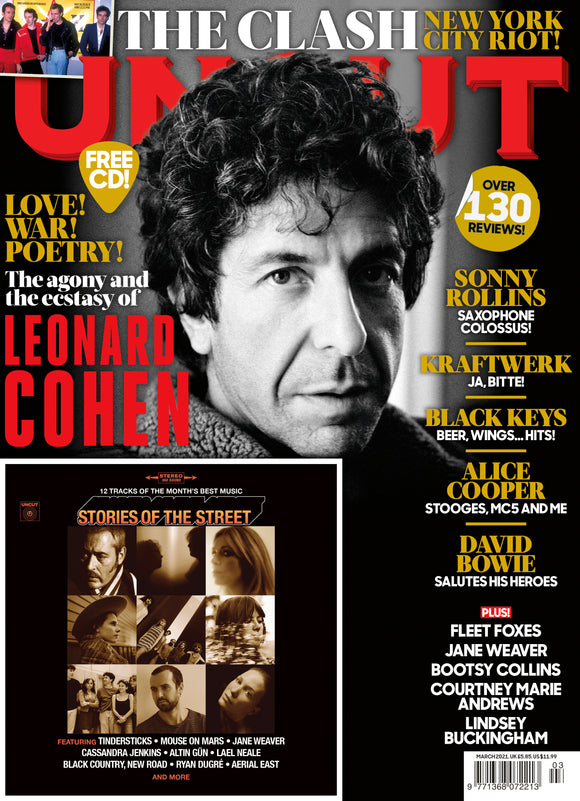 UK Uncut Magazine March 2021: LEONARD COHEN David Bowie KRAFTWERK Alice Cooper