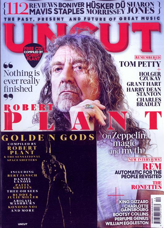 Robert Plant on the cover of Uncut Magazine December 2017