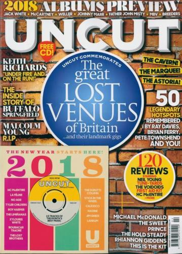 UNCUT magazine February 2018 Keith Richards Malcolm Young Prince The Sweet