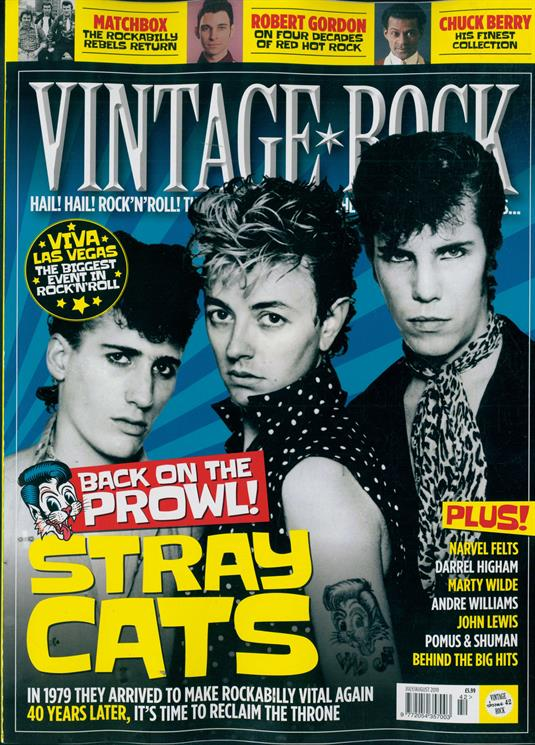 Vintage Rock Magazine July 2019 #42 - Stray Cats Cover and Feature