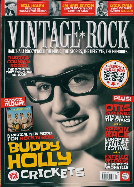 Vintage Rock Magazine #41: (May/Jun 2019) Buddy Holly And The Crickets