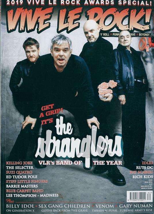 Vive Le Rock Magazine Issue NO 62 THE STRANGLERS Billy Idol GARY NUMAN Suzi Quatro
