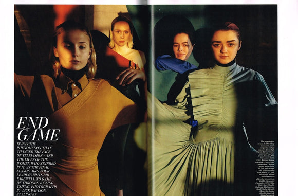 VOGUE UK April 2019 Lena Headey SOPHIE TURNER Maisie Williams Game Of Thrones