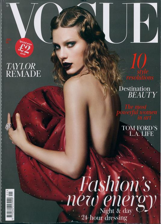Taylor Swift on the cover of UK Vogue