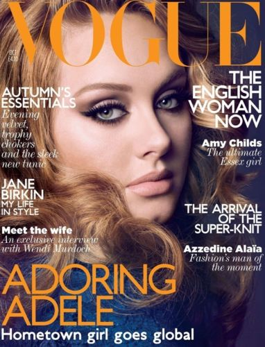 VOGUE October 2011 UK ADELE Jane Birkin,Wendi Murdoch,Azzedine Alaia,Lara Stone