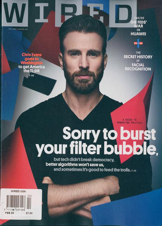 CHRIS EVANS US WIRED MAGAZINE FEB 2020
