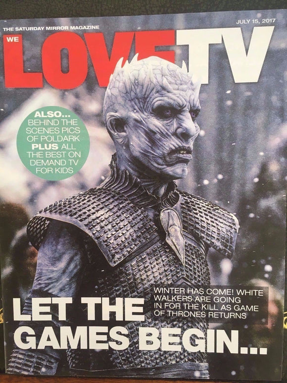 UK Love TV Magazine 15th July 2017 Game of Thrones Aidan Turner Poldark