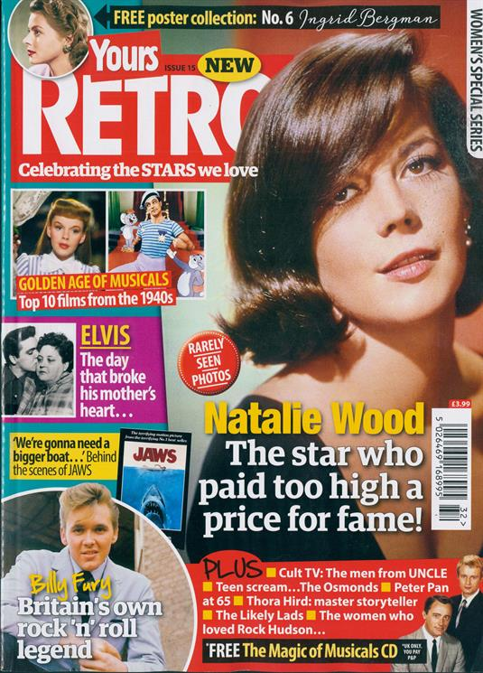 UK Yours Retro Latest Issue 2019: Natalie Wood Billy Fury Elvis Presley
