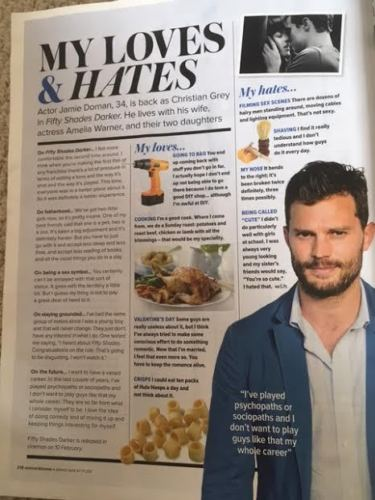 UK Woman & Home Magazine 2017 Jamie Dornan Fifty Shades Darker interview