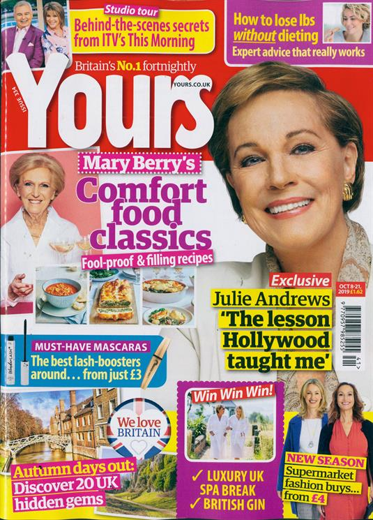 YOURS Magazine October 8 2019: JULIE ANDREWS COVER AND FEATURE