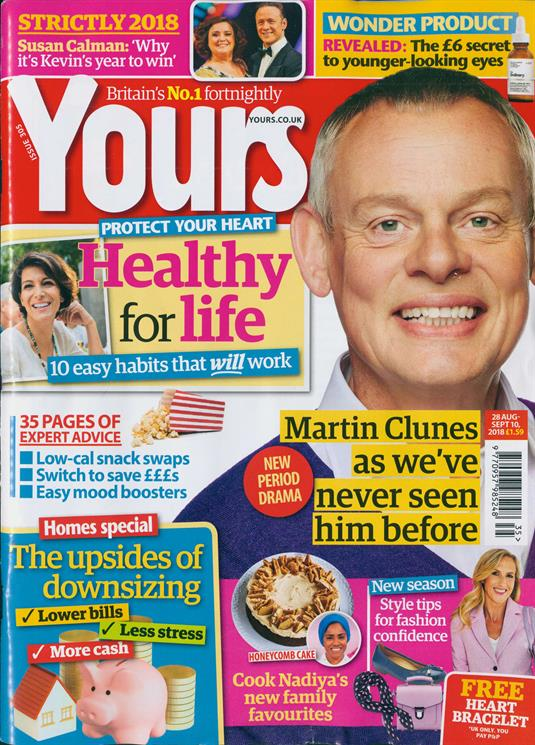UK Yours Magazine August 2018: MARTIN CLUNES as you've never seen him before