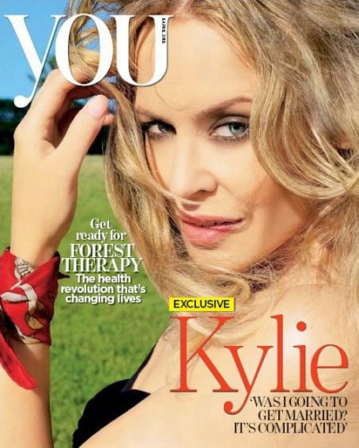Kylie Minogue You Magazine Interview Cover Article 08/04/18 Golden
