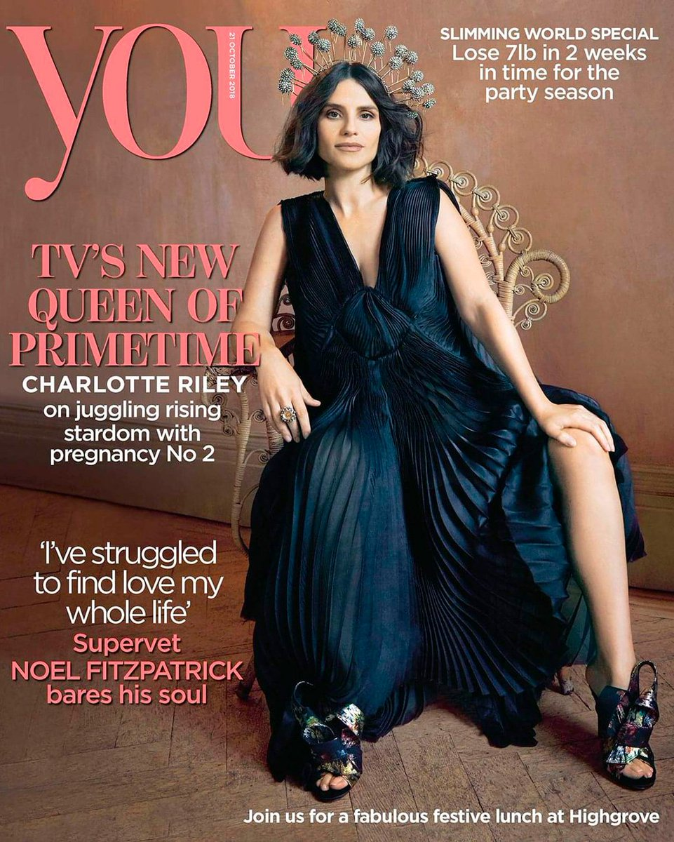 UK You Magazine October 2018: CHARLOTTE RILEY COVER STORY on Tom Hardy, Pregnancy Number Two & More