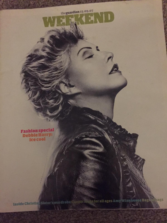 Guardian Weekend Magazine 15th September 2007 Blondie Debbie Harry