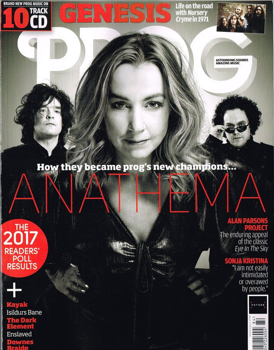 PROG #84 February 2018 ANATHEMA Kayak GENESIS Mark Stoermer DARK ELEMENT New+CD