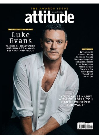 UK Attitude Magazine #330: LUKE EVANS COVER FEATURE