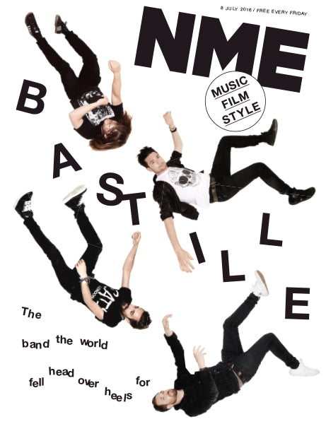 Bastille on the cover of NME Magazine from 2016