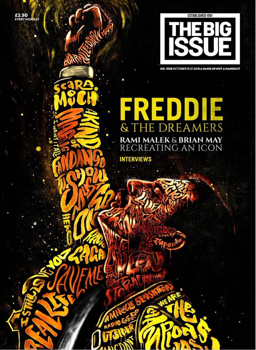 Big Issue Magazine 1329 (15 Oct 2018) Freddie Mercury ~ Queen - Rami Malek