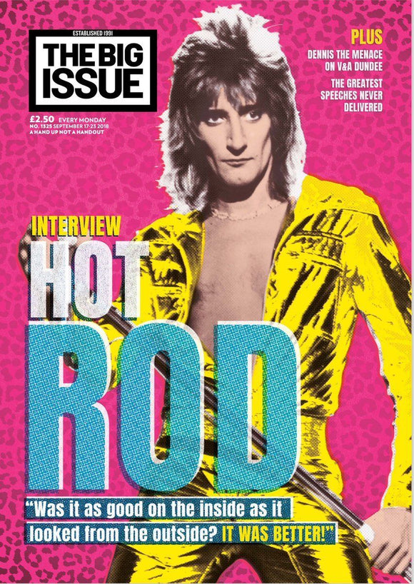 UK Big Issue Magazine (17 Sep 2018) Rod Stewart Exclusive Interview