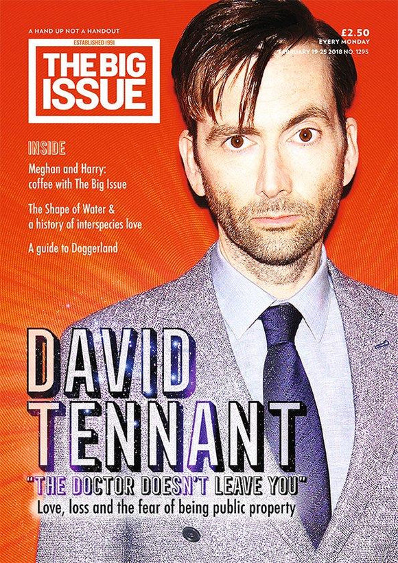 BIG ISSUE MAGAZINE FEB 2018 DAVID TENNANT COVER EXCLUSIVE INTERVIEW