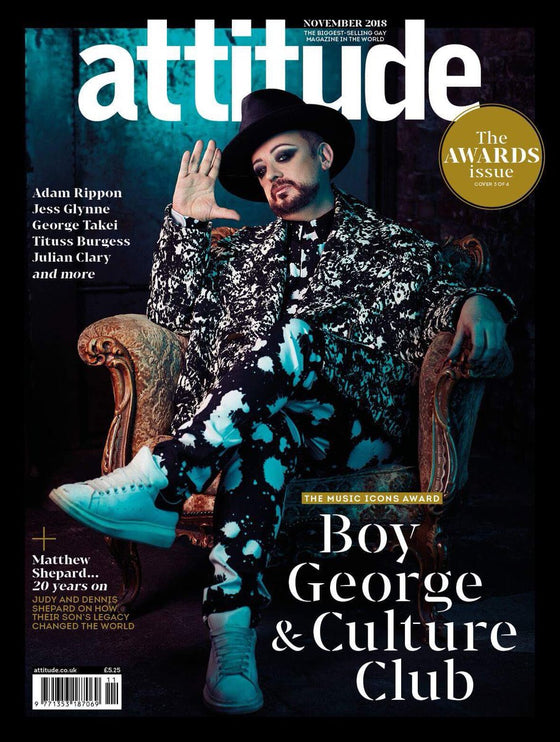 UK Attitude Magazine November 2018: BOY GEORGE COVER & FEATURE