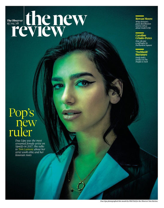 DUA LIPA - BRITISH OBSERVER NEW REVIEW UK Cover April 2018