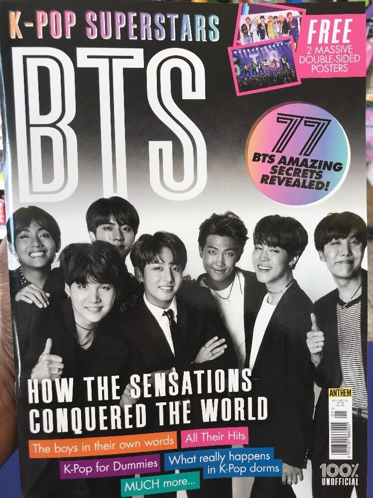 K-Pop Superstars BTS 84 page glossy UK magazine
