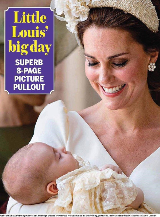 Prince Louis of Cambridge - The Royal Baby Christening - Daily Mail Souvenir