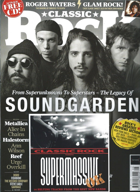 Classic Rock Mag AUGUST 2018: SOUNDGARDEN Chris Cornell ALICE IN CHAINS Heart REEF