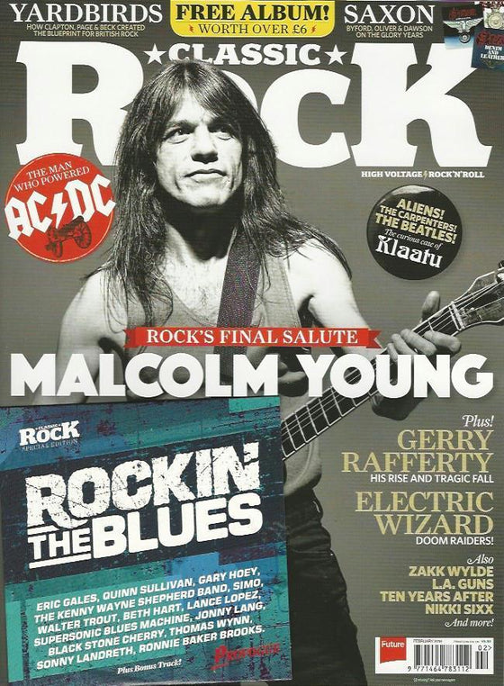 UK Classic Rock Magazine February 2018 Malcolm Young AC/DC - Rock's Final Salute