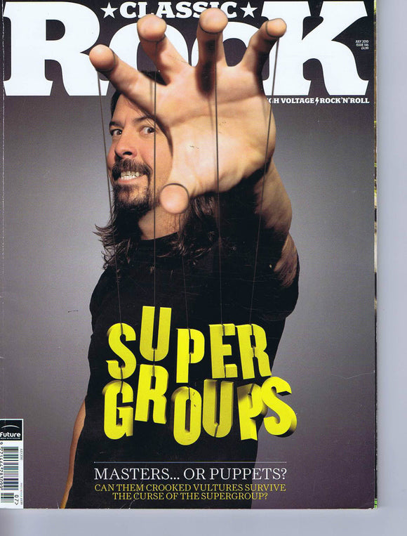 DAVE GROHL / THEM CROOKED VULTURES / WASP Classic Rock No. 146 July 2010