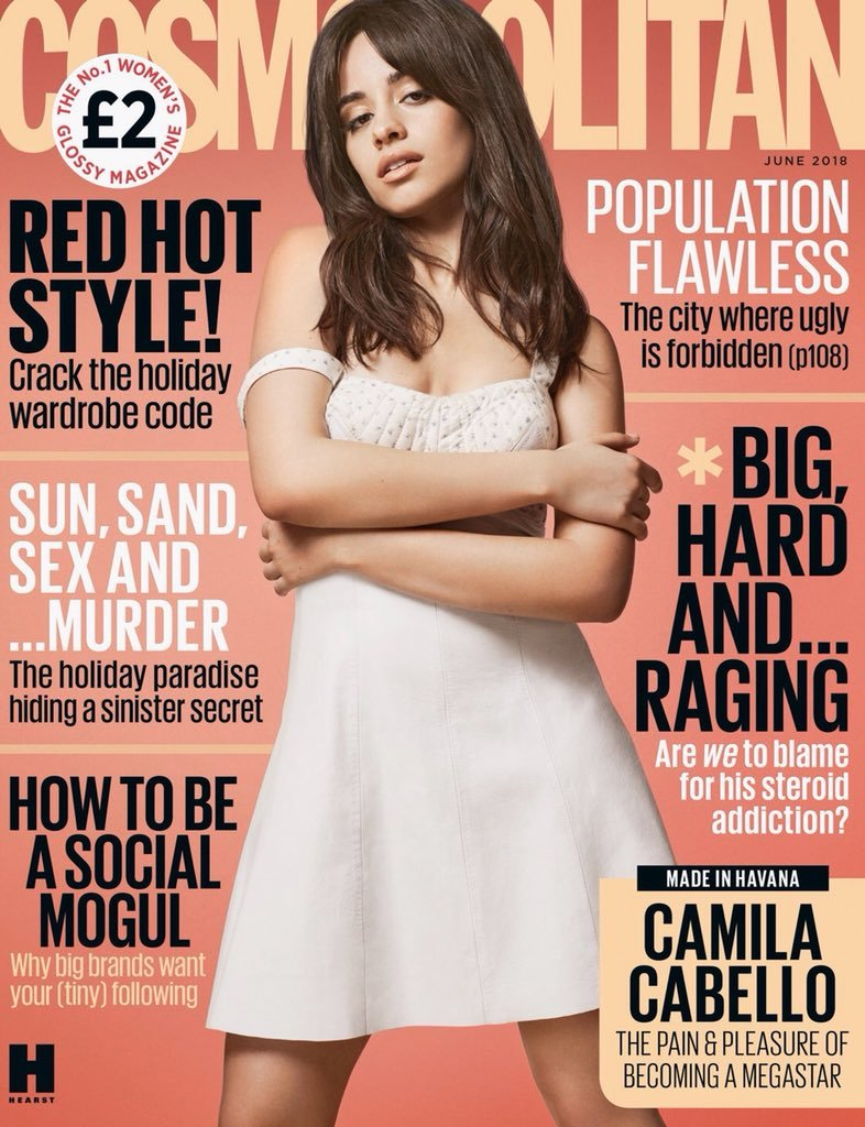 CAMILA CABELLO BRITISH COSMOPOLITAN MAGAZINE UK Cover June 2018 Fifth Harmony
