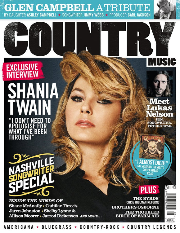 Country Music Magazine October 2017 Shania Twain Glen Campbell A Tribute