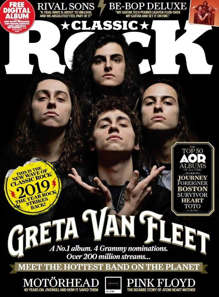 Classic Rock Magazine FEB 2019: GRETA VAN FLEET Cover and World Exclusive & Led Zeppelin 50th Anniversary booklet