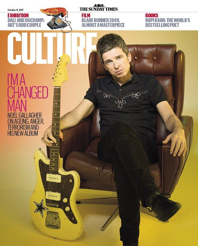 Noel Gallagher on the cover of Culture Magazine