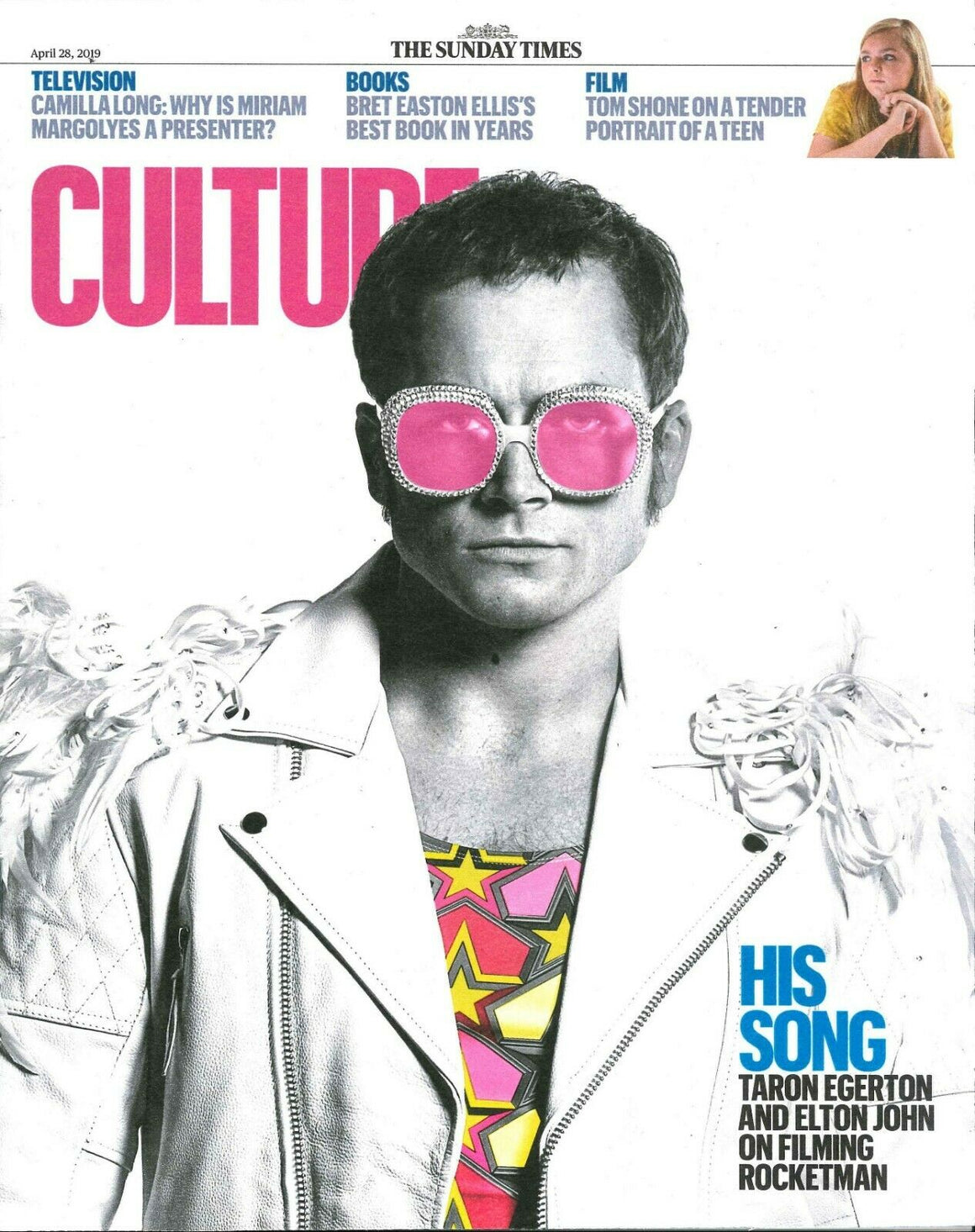 UK Culture Magazine April 2019: ELTON JOHN Taron Egerton Cover And Feature